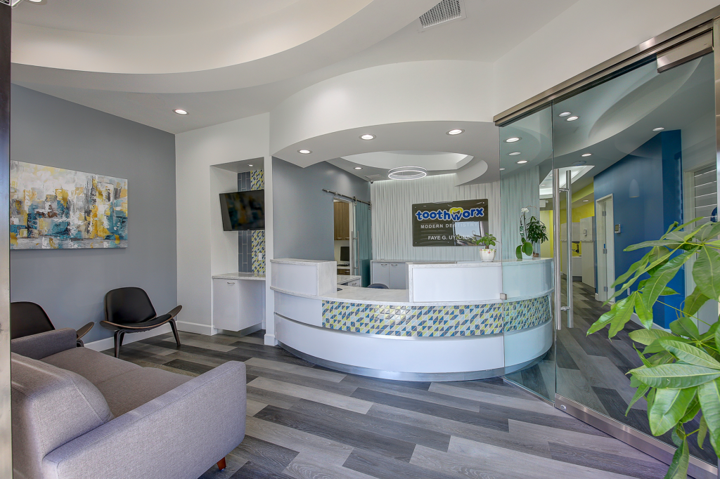 Picture of Toothworx Modern Dentistry Main Reception Desk View