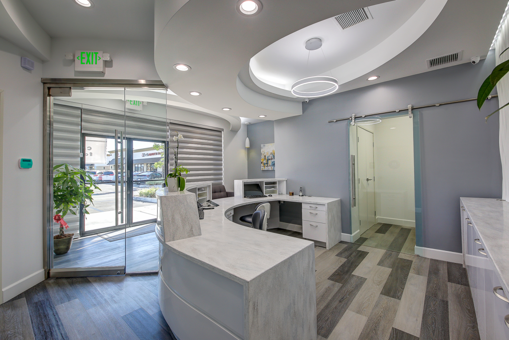 Picture of Toothworx Modern Dentistry Reception Desk Back Office View
