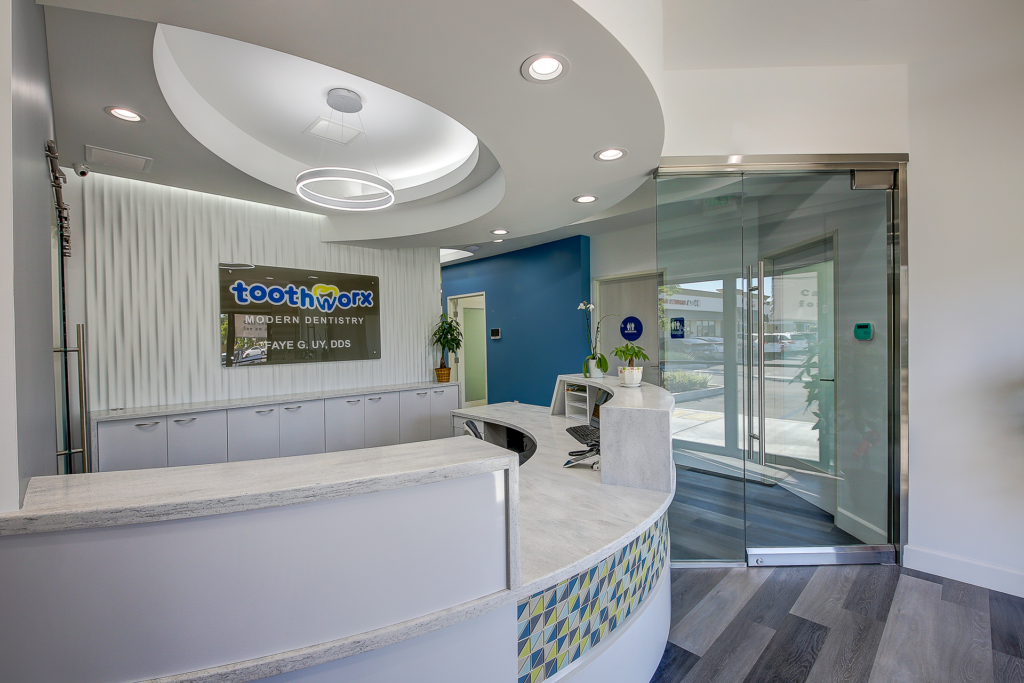 Picture of Toothworx Modern Dentistry Reception Desk View 1